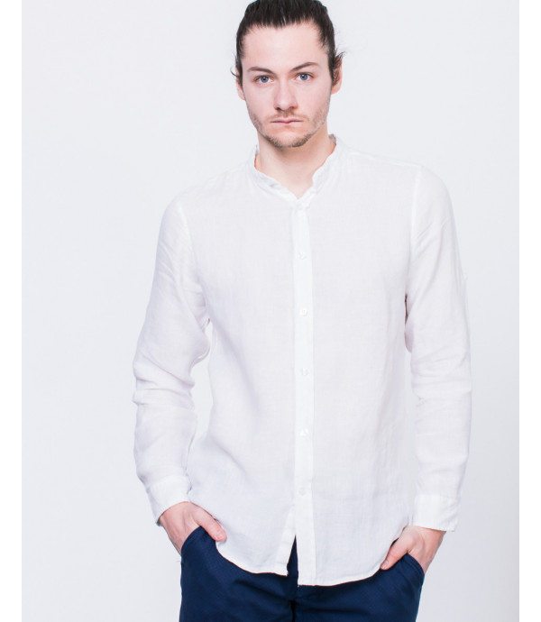 Camicia di lino basica coreana