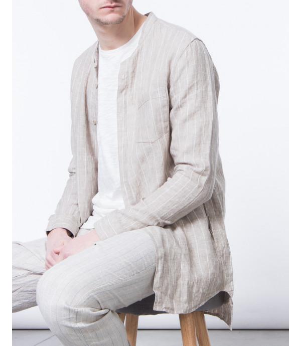 Camicia in lino a righe