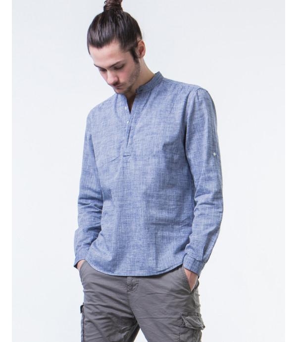 camicia serafino in cotone