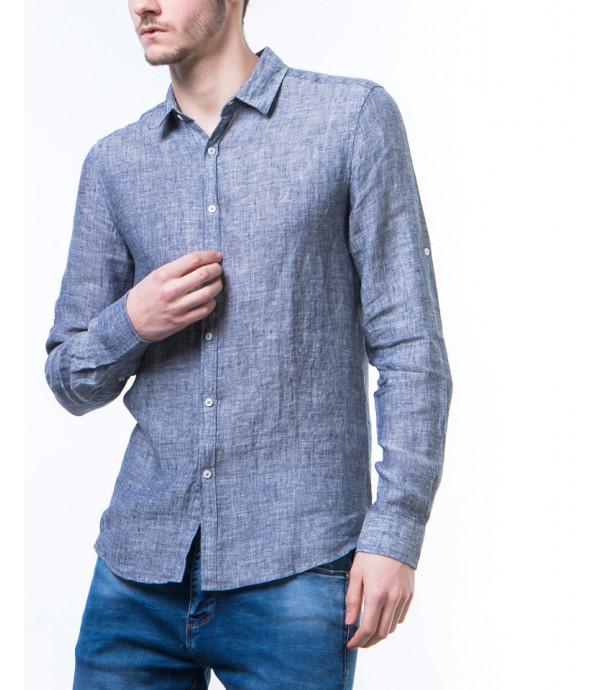 Camicia di lino effetto vintage