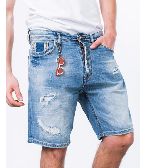 Bermuda jeans con ciondoli