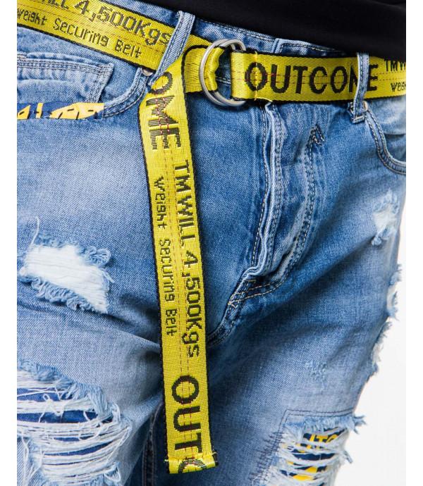 Bermuda jeans con cintura