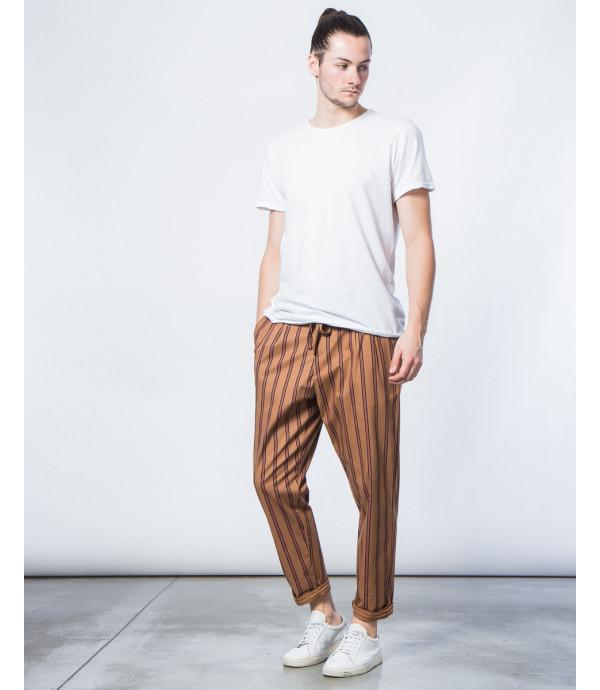 Pantaloni carrot fit a righe