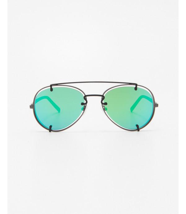 Occhiali aviatore con lente verde
