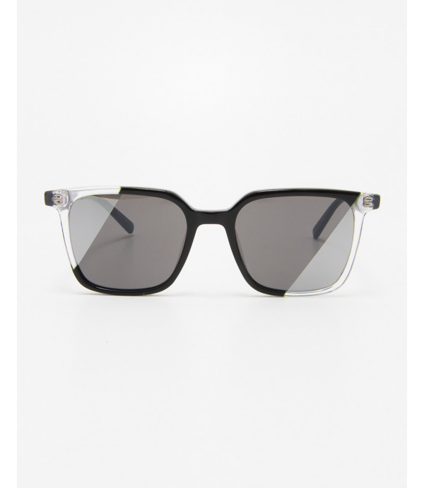 Squared sunglasses with bicolored lens