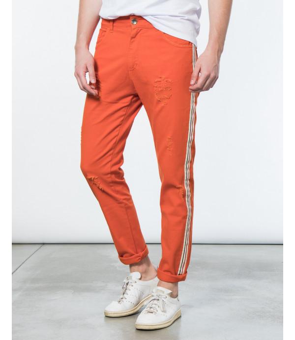 Jeans slim fit con bande laterali