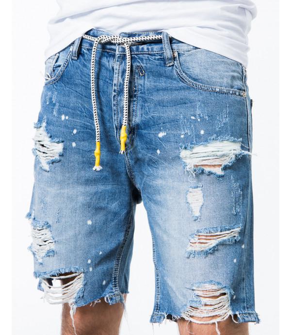 Bermuda jeans con strappi