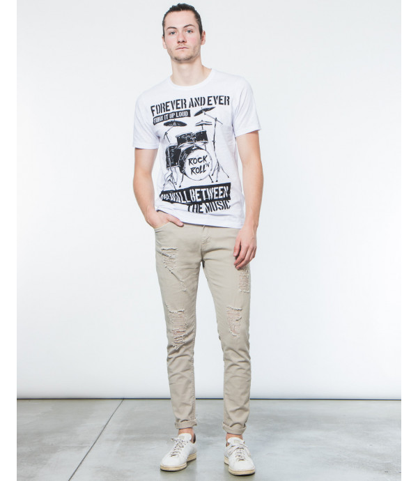 T-shirt con stampa rock