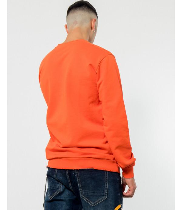 Felpa con stampa OUTCOME arancione
