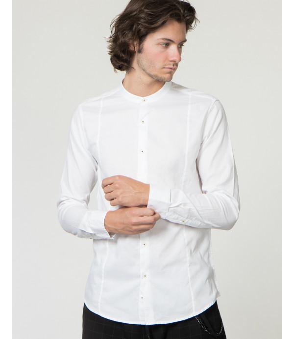 Camicia con collo alla coreana