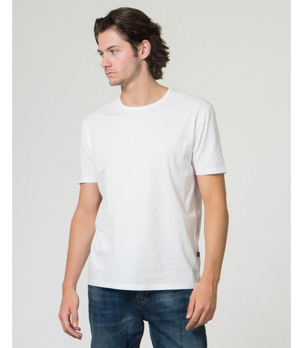 T-Shirt con collo tagliato a vivo basica