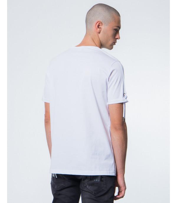 T-shirt con lacci su maniche