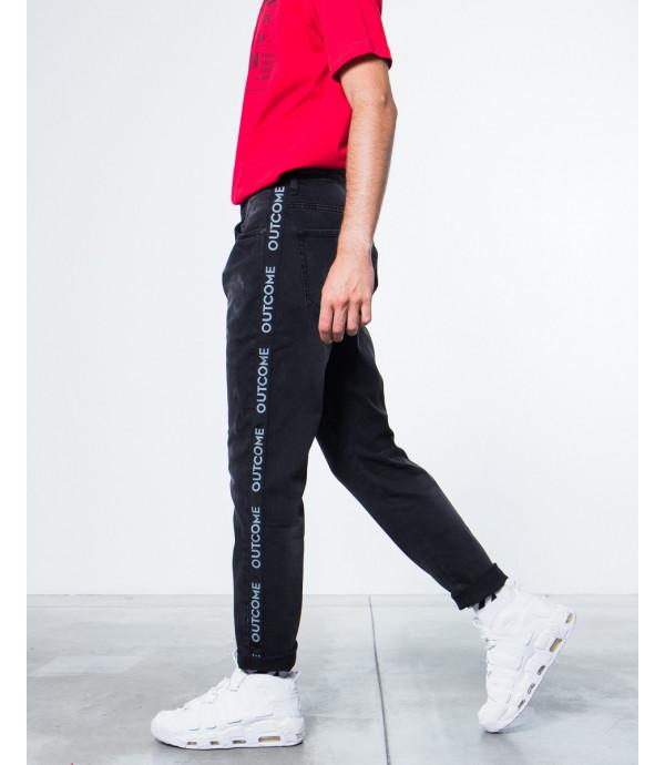 Jeans carrot fit con bande laterali con logo