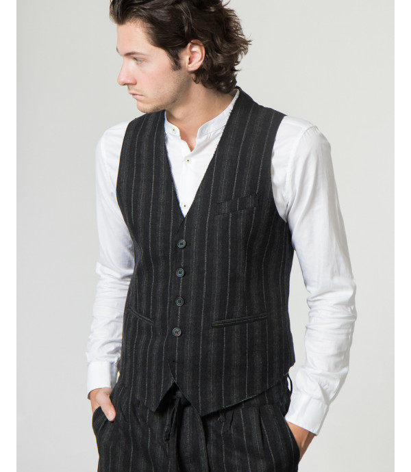 Gilet in fantasia a righe