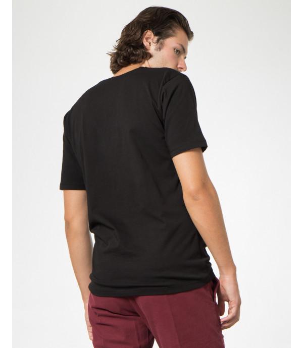 T-shirt con stampa e ricami