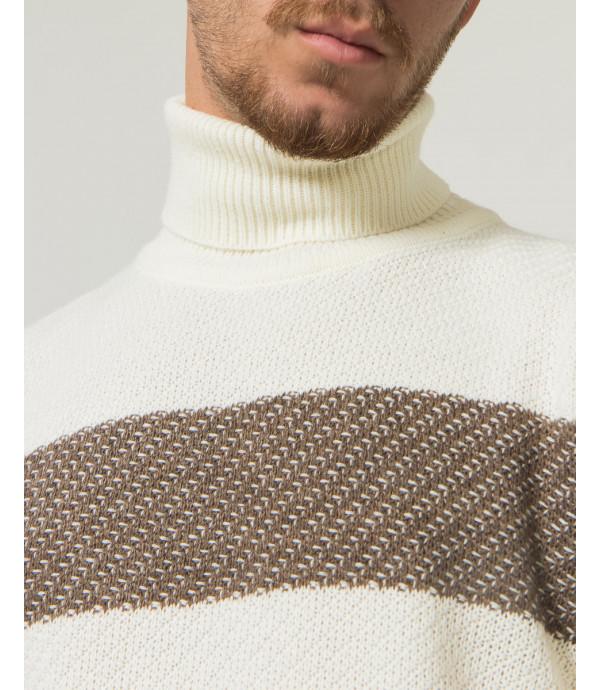 Dolcevita in maglia con banda