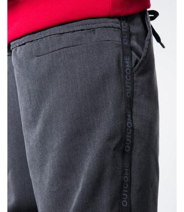 Pantaloni con laccio e banda laterale
