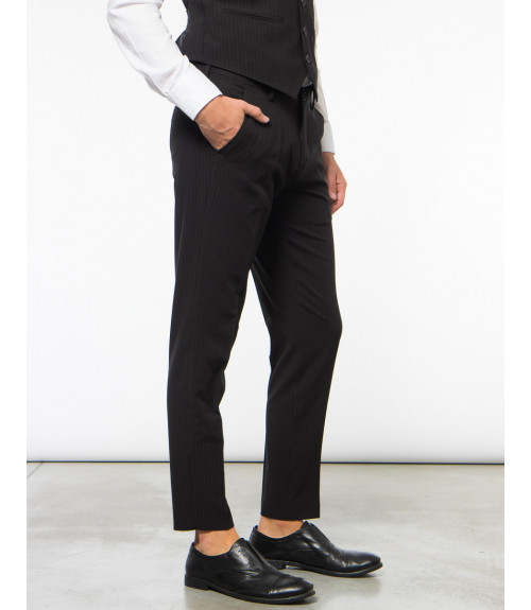 Pantaloni tailored gessati