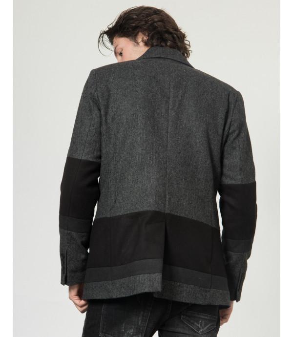 Cappotto peacoat a blocchi di tessuto