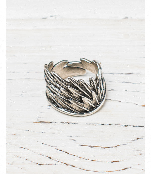More about Metal feathers ring