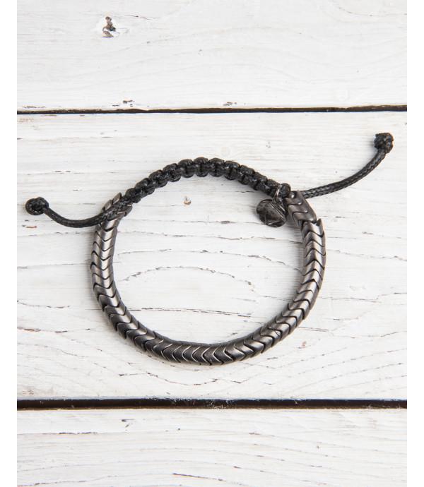 Chord and metal bracelet