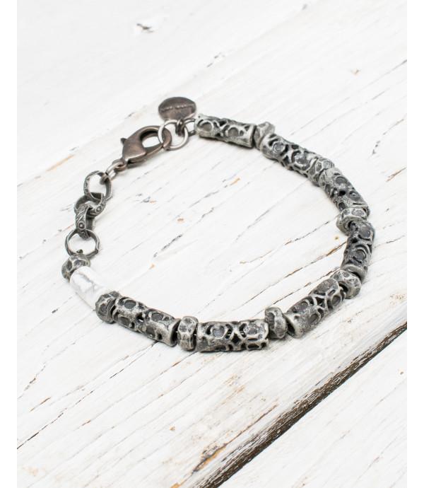 Braccialetto in metallo con pietra