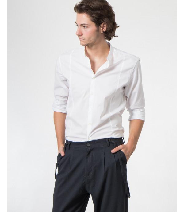 Camicia collo coreano slim fit