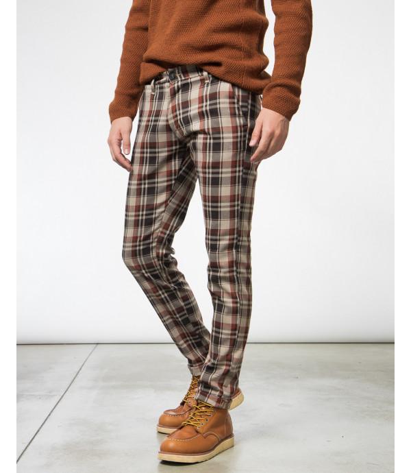 Pantaloni tailored a quadri