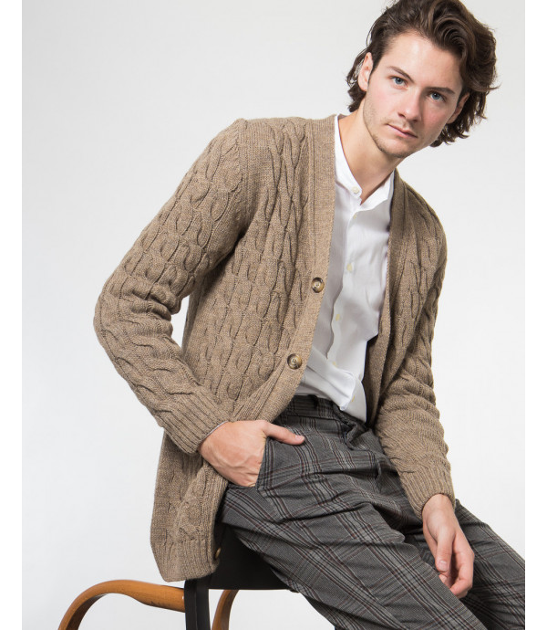 Cardigan in maglia lavorata