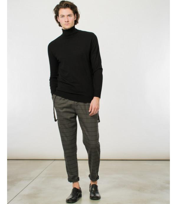 Pantaloni comfort fit a quadrettoni