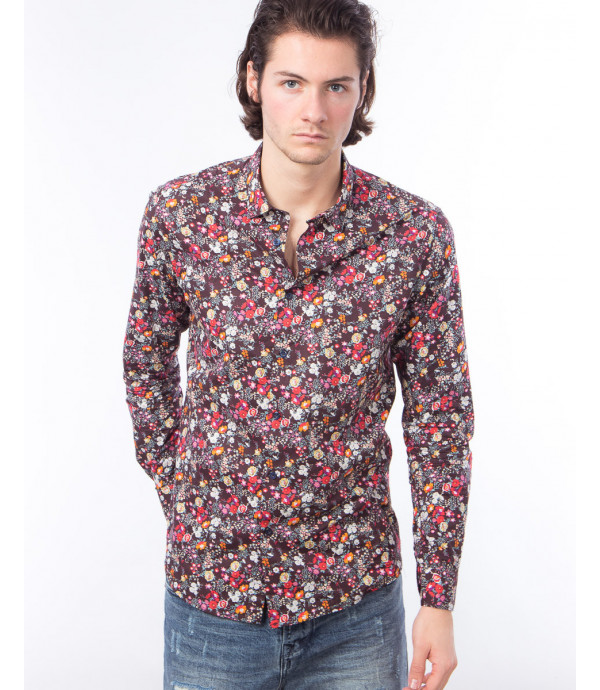 Camicia a fiori slim fit