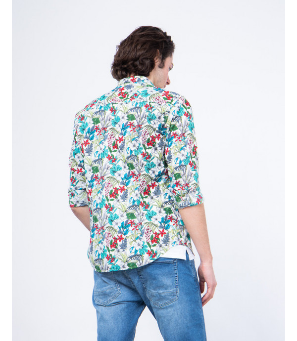 Camicia a fiori regular fit