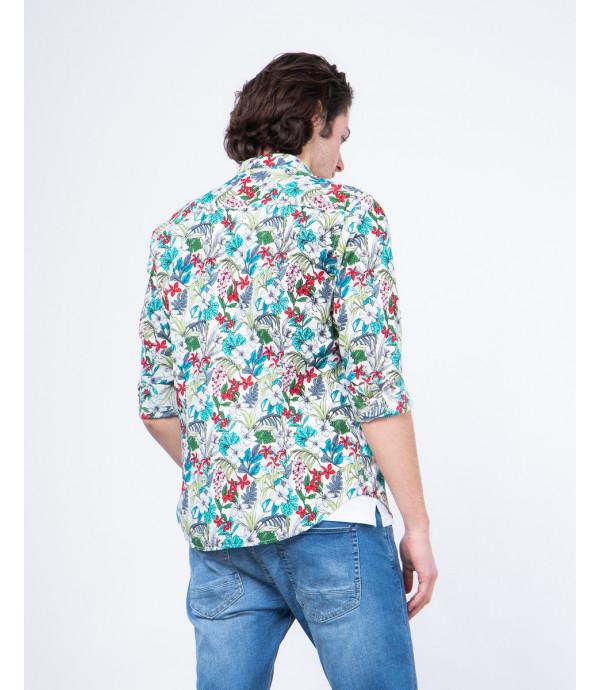 Regular fit floral patterned shirt