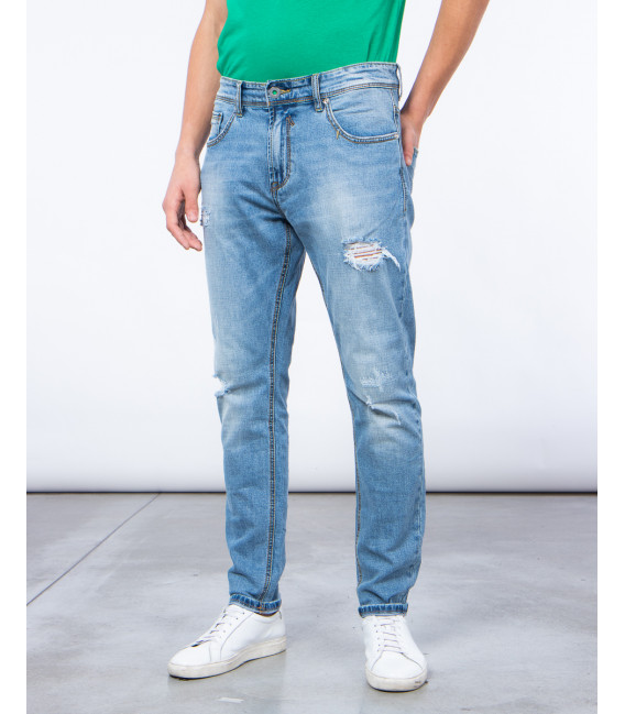 Jeans regular fit con strappi