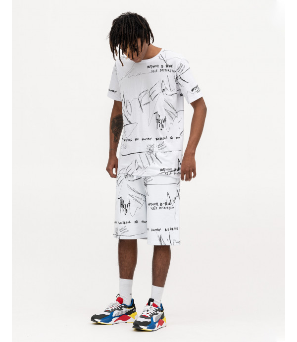 T-shirt con stampa graffiti