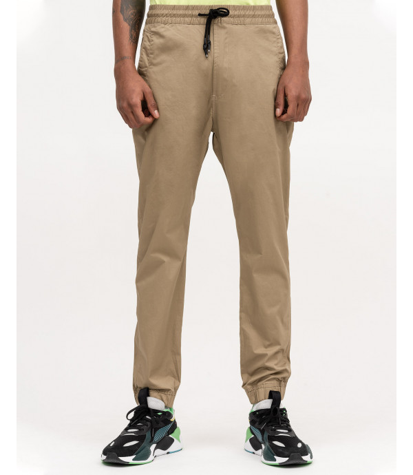 Tech fabric drawstring trousers