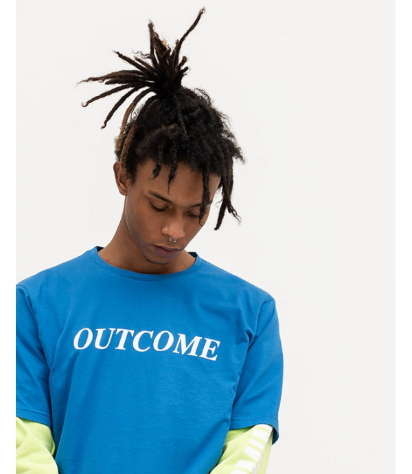 T-shirt with OUTCOME patch