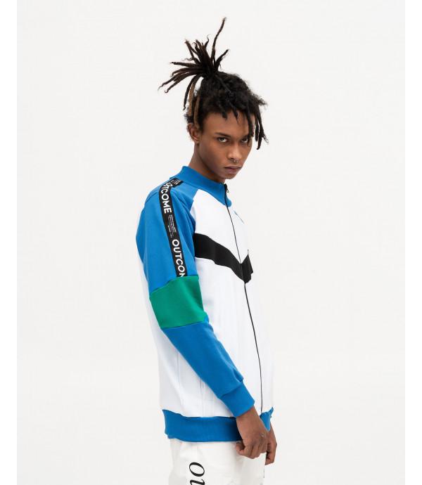 Felpa zip in color block