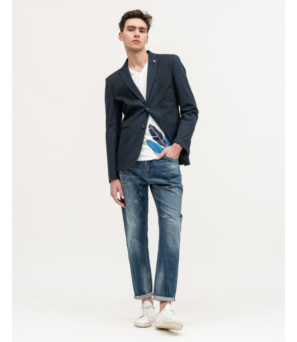 Multiple pinstripe blazer