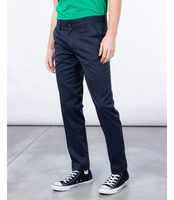 Pantaloni eleganti finestrati blu