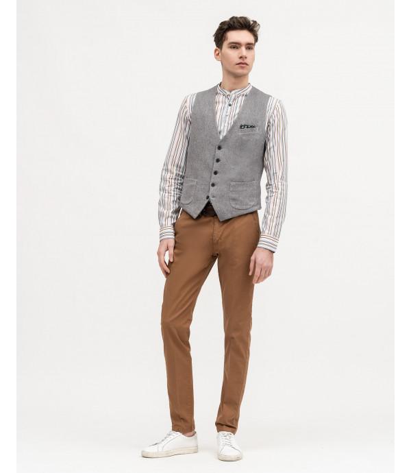 Slim waistcoast in weave