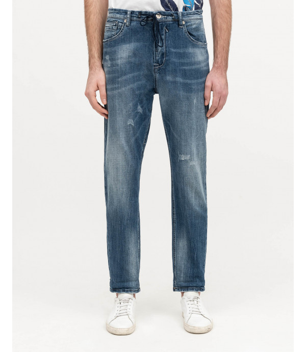 Washed carrot fit jeans
