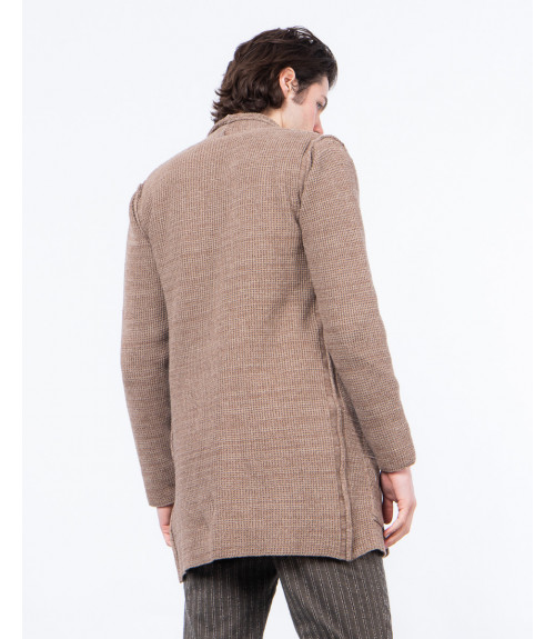 Long-line knitted cardigan