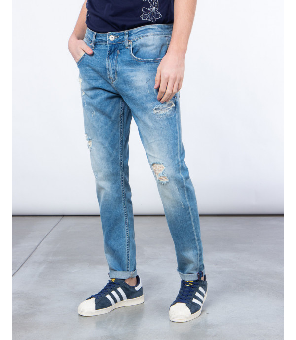 Jeans slavato regualr fit