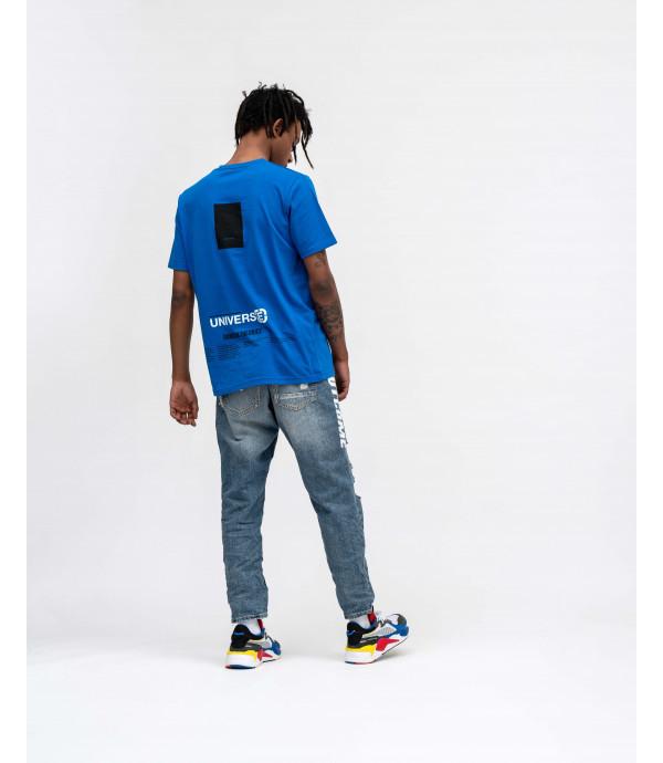 T-shirt con stampe OUTCOME royal blu