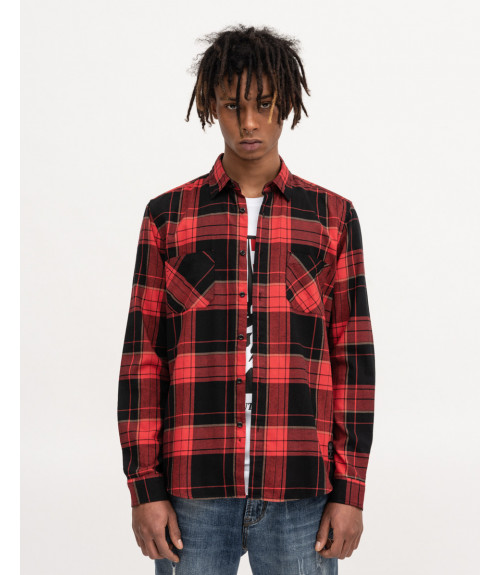 Red checked overshirt