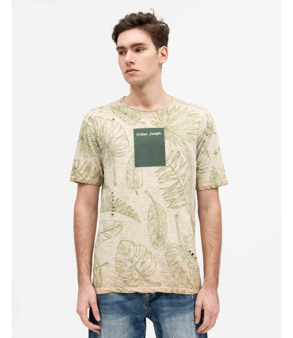 T-shirt con stampa all-over
