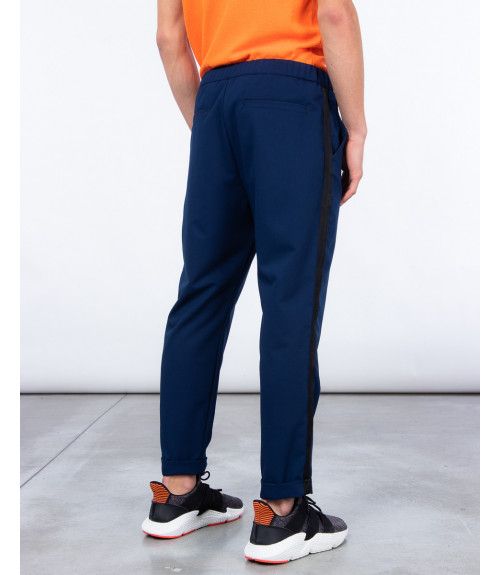 Side stripe drawstring trousers