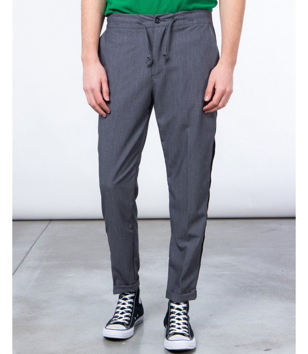Pantalone con laccio e banda laterale