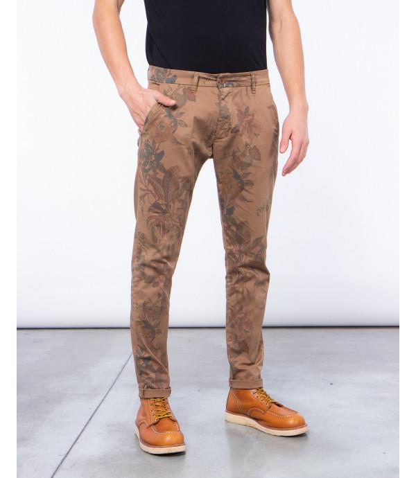 Pantaloni slim fit con stampa